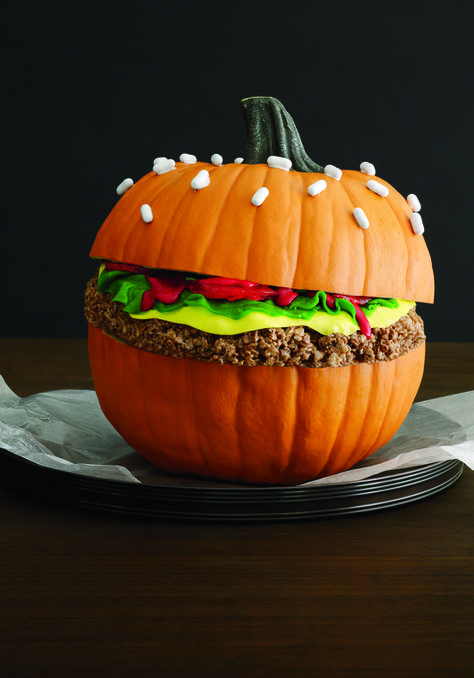 pumpkin decorations colorful hamburger pumpkin momooze.com
