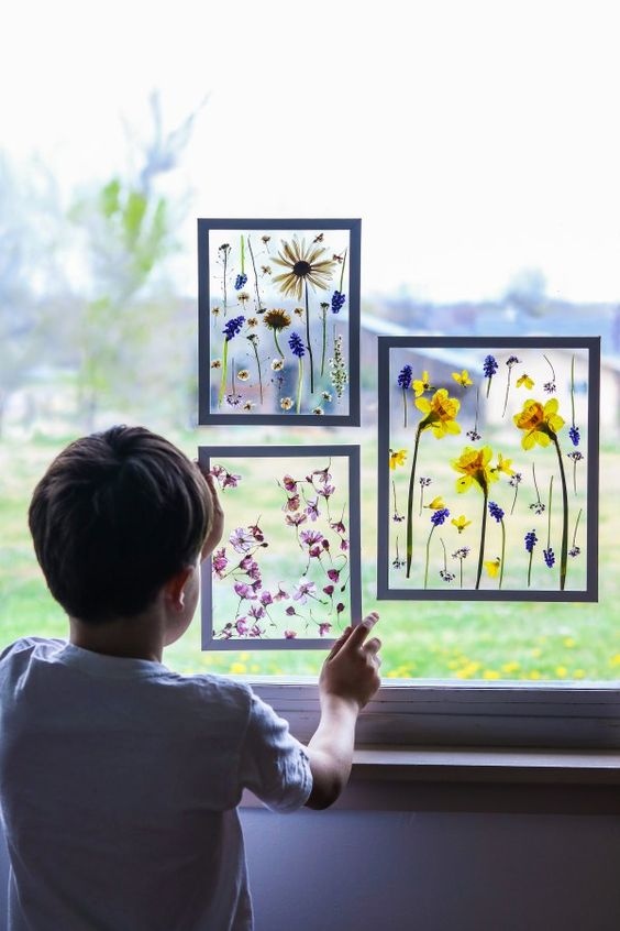rainy day activities kids suncatcher botanical momooze.com