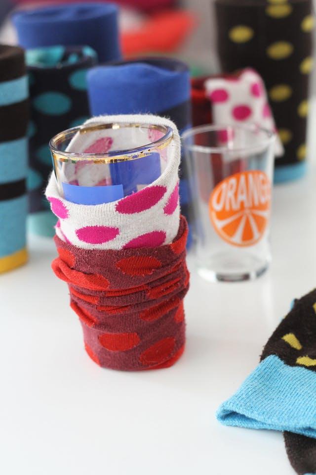 socks on glasses
