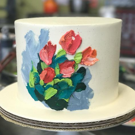 stunning delicious kids birthday painted buttercream cake momooze.com online magazine for moms