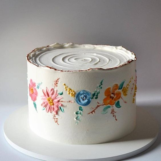 stunning delicious kids birthday painted floral cake momooze.com online magazine for moms