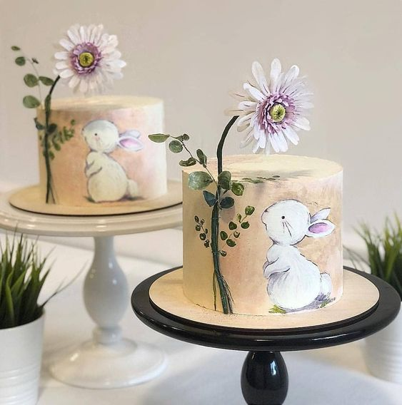 stunning delicious kids birthday painted spring bunny cake momooze.com online magazine for moms