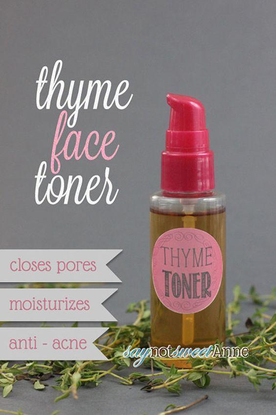 thyme face toner