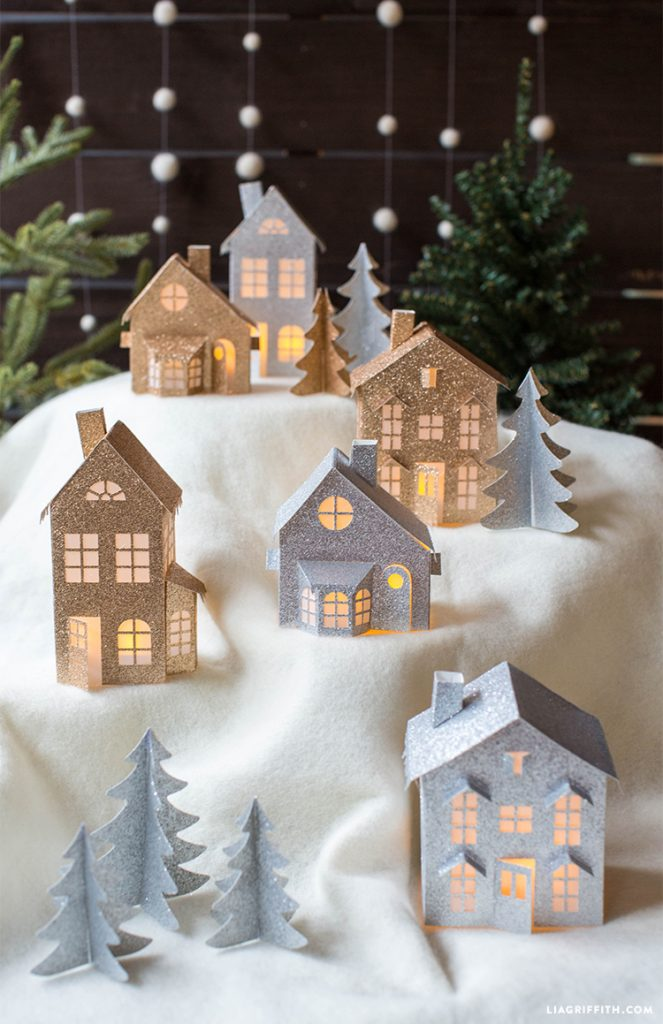 ultimate christmas decoration 3D paper christmas village momooze.com online magazine for modern moms