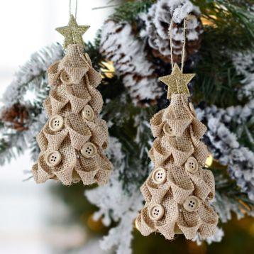 ultimate christmas decoration burlap button tree ornaments momooze.com online magazine for modern moms