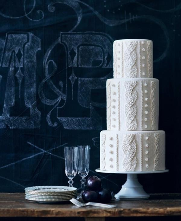 ultimate winter wedding inspiration buttercream wedding cake cableknit sweater momooze.com online magazine for moms