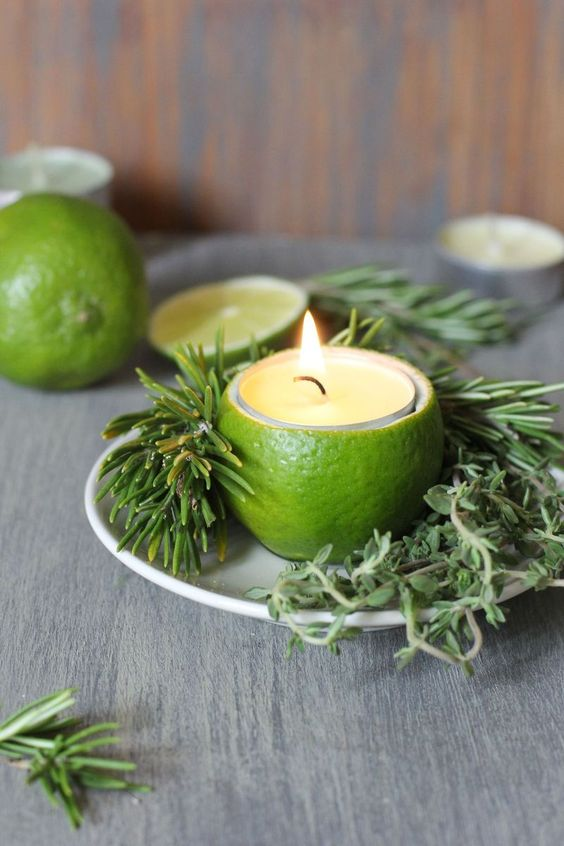 ultimate winter wedding inspiration citrus candle holders momooze.com online magazine for moms