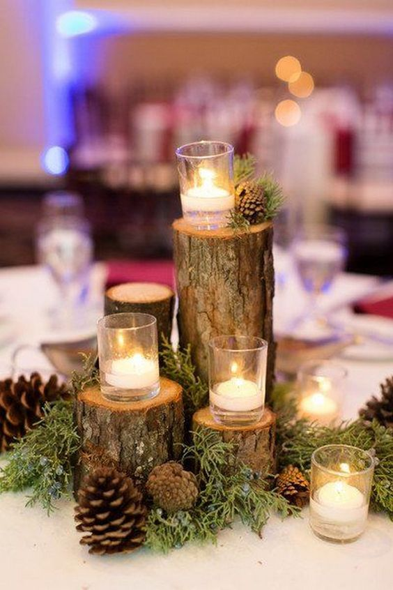 ultimate winter wedding inspiration romantic branch centerpieces momooze.com online magazine for moms