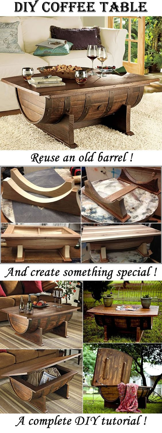 unique home decor projects barrel coffee table momooze.com online magazine for the modern mom