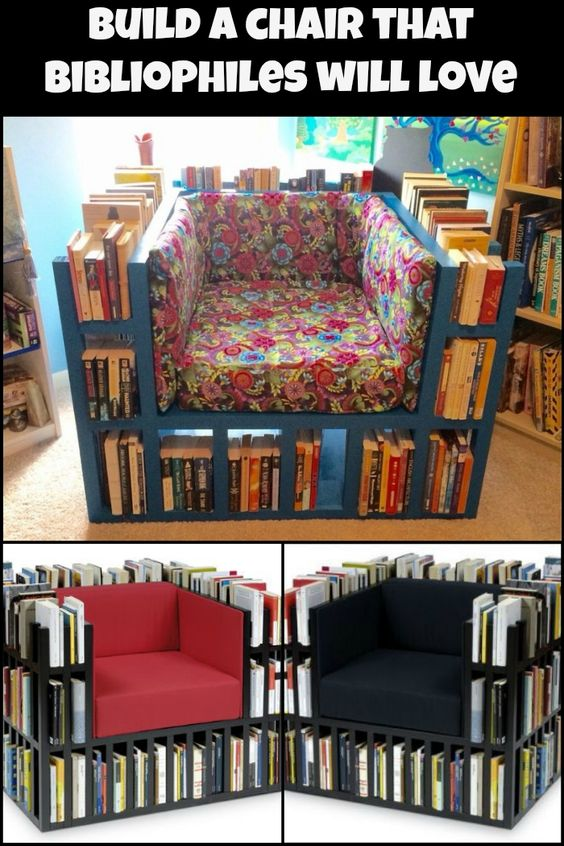 unique home decor projects biblio chair diy chair books momooze.com online magazine for the modern mom