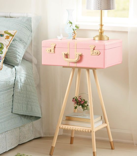 unique home decor projects diy suitcase table momooze.com online magazine for the modern mom