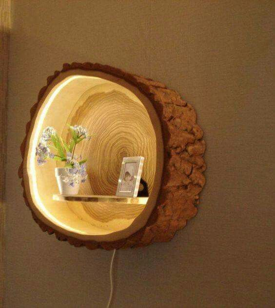 unique home decor projects upcycled stump decor momooze.com online magazine for the modern mom